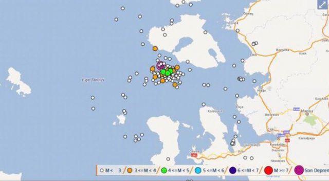 AFAD: İzmir açıklarında son 1 saatte 47 adet deprem meydana geldi