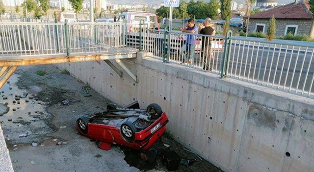 Aracı ekspere götürürken kaza yaptılar