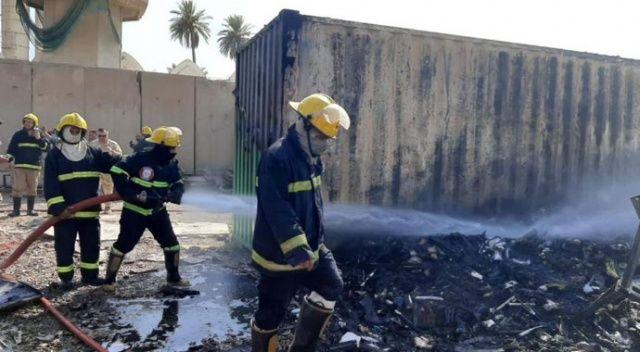 Bağdat'taki askeri havalimanında yangın çıktı