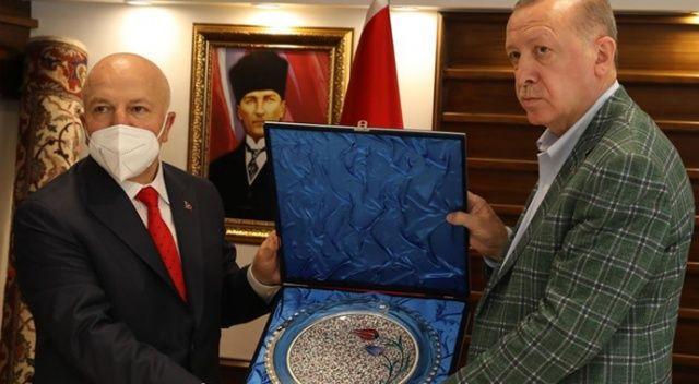 Cumhurbaşkanı Erdoğan'dan Erzurum Belediyesine ziyaret