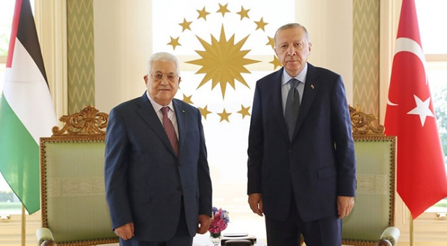 Erdoğan ile Abbas görüşmesi sona erdi
