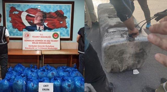 Gürbulak Sınır Kapısında 462 litre likit eroin ele geçirildi