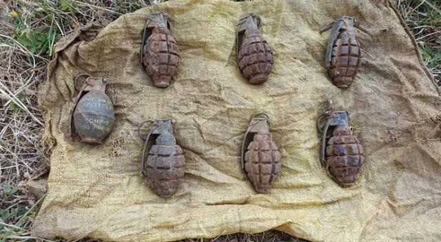Hakkari'de toprağa gömülü el bombaları ele geçirildi