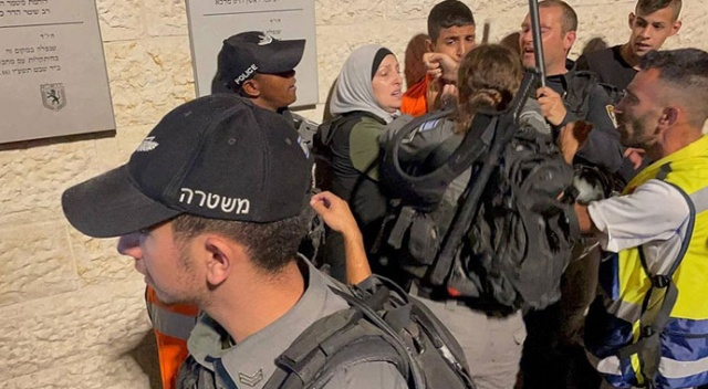 İşgalci İsrail bu defa Şam Kapısı'nda saldırdı