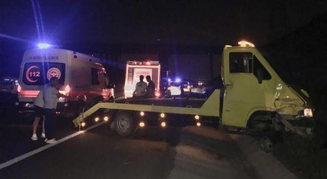 Kuzey Marmara Otoyolu'nda feci kaza: Yaralılar var