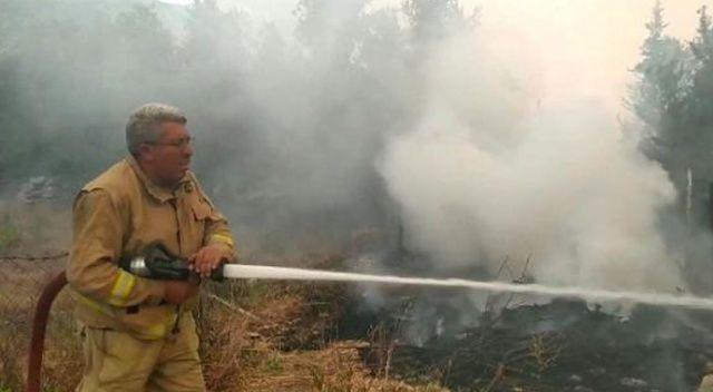 Yangın söndürmede şehit olan Yaşar Cinbaş'ın son görüntüleri