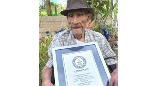 112 yaşında Guinness'e girdi! Dünyanın hayattaki en yaşlı erkeği