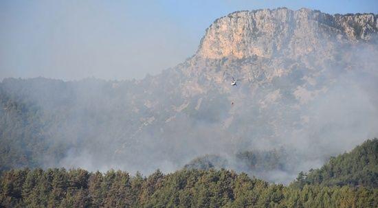 Adana Kozan ve Aladağ'daki yangınlara müdahale sürüyor
