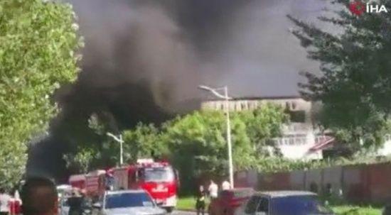 Çin'de depo yangını:14 ölü