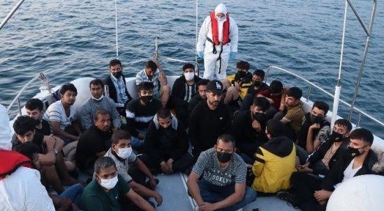 Göçmen operasyonu! 68 kişi kurtarıldı