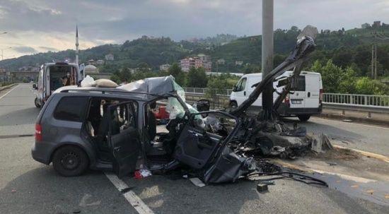 Gurbetçiler Of'ta kaza yaptı: 2 ölü, 4 yaralı