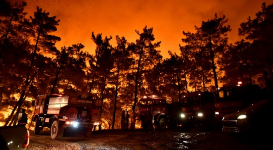 Hatay ve Mersin'de orman yangını: Müdahale sürüyor