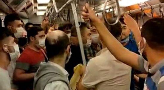 İstanbul metrosunda maske tartışması
