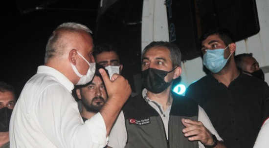 Marmaris'te incelemede bulunan Bakan Ersoy: Yangın yerleşim bölgelerinden uzakta