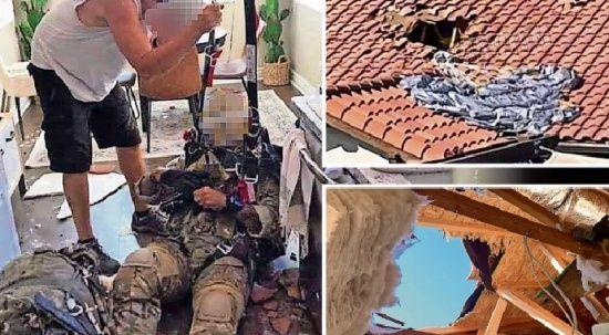 Paraşütle atlayan İngiliz asker mutfağa düştü