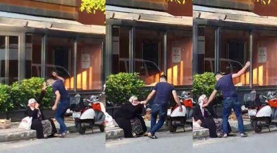 Silahlı saldırgan sokak ortasında annesine saldırdı!