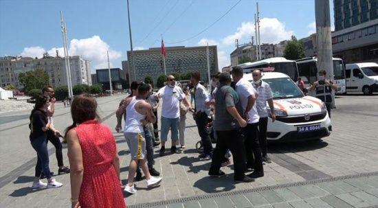 Taksim'de asansör kavgası: Çocuklu aileye saldırdılar