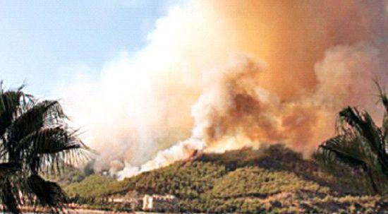 Yangının dumanı akciğeri yakıyor
