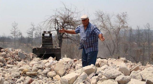 54 senelik emek kül oldu! 4 evi de yandı