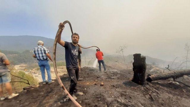 AK Partili Köse yangına karşı verdiği mücadeleyi anlattı