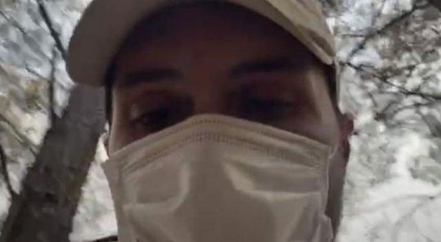 Alperen Duymaz yangın söndürme çalışmalarına katıldı