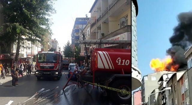 Binanın çatı katında patlama!