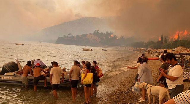 Bodrum'da yangın büyüyor! Alevler evlere sıçradı