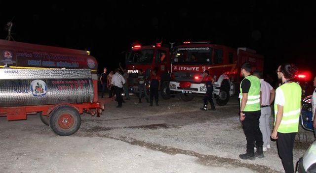 Denizli'deki orman yangını 3. defa kontrol altında