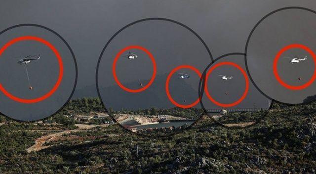 Fahrettin Altun, yangına müdahale eden helikopterleri paylaştı