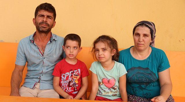 Kaldıkları villa yanan aile, havuzun içinde kurtarılmayı bekledi
