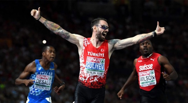 Milli atlet Ramil Guliyev, 200 metrede yarı finale yükseldi