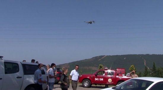 Aydos Ormanı'nda drone destekli denetim