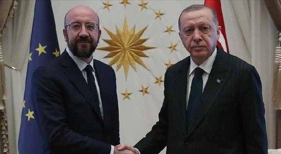 Cumhurbaşkanı Erdoğan, Michel ve Johnson ile görüştü