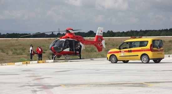 KOAH Hastasına ambulans helikopteri ile müdahale edildi