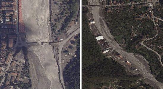 Selin tahribatı uzaydan  görüntülendi