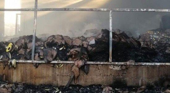 Sirke fabrikasında çıkan yangının faturası 300 bin TL