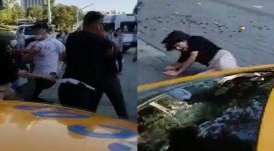 Taksim'de bir kadına uçan tekme atan zabıta kovuldu