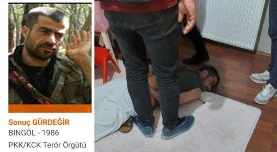 Turuncu listedeki terörist İstanbul'da yakalandı