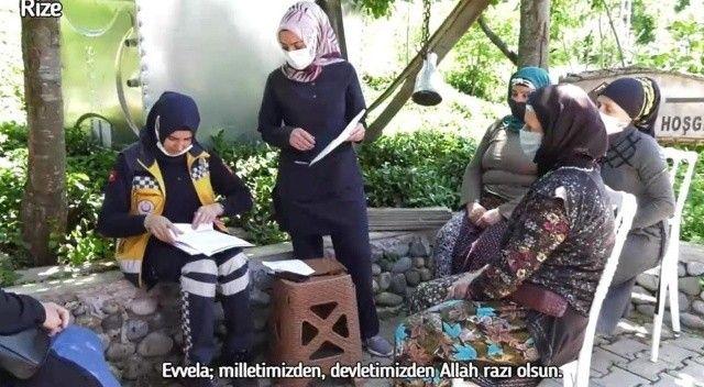 Bakan Koca paylaştı, Rize'de çay bahçesinde aşılama yapıldı