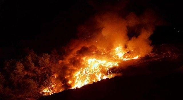 Çöplük alanda yangın çıktı! Korku dolu anlar yaşandı
