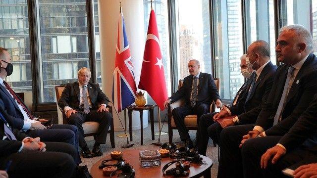 Cumhurbaşkanı Erdoğan, New York'ta Boris Johnson ile görüştü