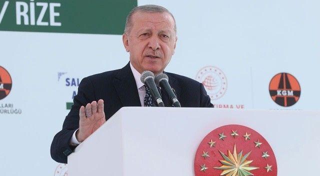 Cumhurbaşkanı Erdoğan 'Salarha Tüneli'ni hizmete açtı