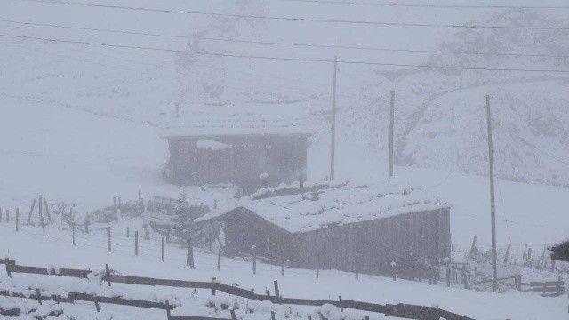 Doğu Karadeniz'de 30 santim kar var