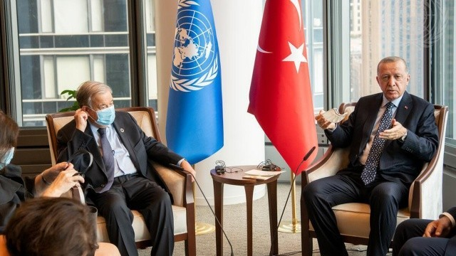 Erdoğan-Guterres görüşmesinde ele alınan konular belli oldu