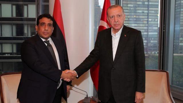 Erdoğan, Libya Başkanlık Konseyi Başkanı el-Menfi ile görüştü