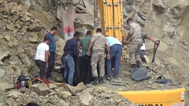 Erzurum'da feci iş kazası!