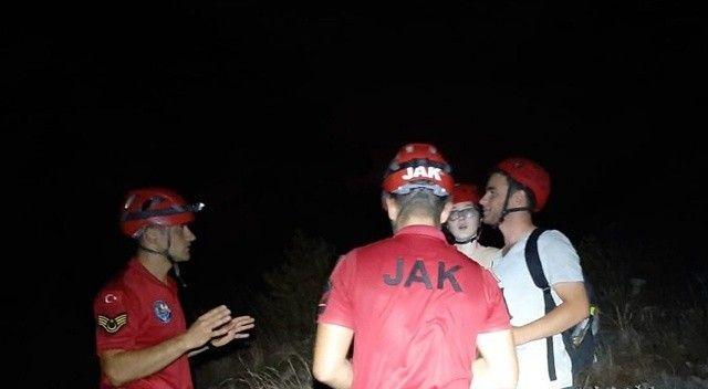 Fethiye'de yürüyüş yaparken kayboldular, tatilcileri jandarma buldu