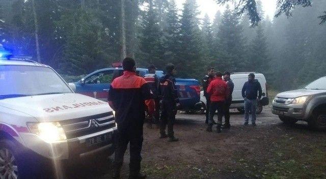 Karabük'te arama çalışması: Onlar mantar aradı ekipler de onları