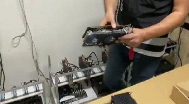 Kripto madenciliğinde kullanılan 73 cihaz ele geçirildi 1 kişi gözaltına alındı!