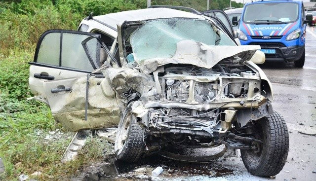 Samsun'da cip ile minibüs çarpıştı: 4 yaralı